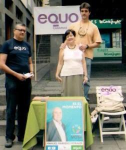 EQUO-La Palma explica su Programa con mesas informativas